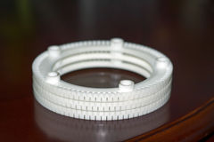 Ring for the filter which receives water from boreholes Royalty Free Stock Image