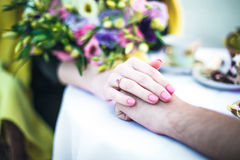 Ring on a finger Royalty Free Stock Photo