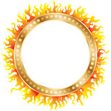 Ring of fire. Golden Ring and fire. Vector illustration vector illustration