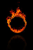 Ring of fire. In black background Stock Images