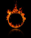 Ring of fire. In black background Royalty Free Stock Photos