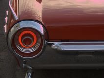 Ring of fire. Sport-car tail light Stock Photos