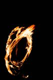 Ring of fire. Flames in a ring formation stock photos