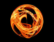 Ring of fire. Very nice fractal - ring of fire Stock Photo