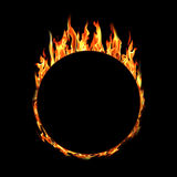 Ring of fire on black background Royalty Free Stock Photos