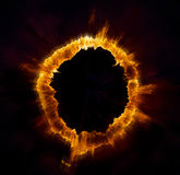 Ring of fire. On black background Stock Photography