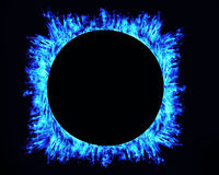 Ring of fire on black background Royalty Free Stock Photo