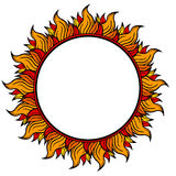 Ring of fire circular frame isolated on white background, vector illustration. Ring of fire circular frame isolated on white background vector Royalty Free Stock Photos