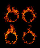 Ring of fire collection. Set Ring of fire in black background Royalty Free Stock Photography