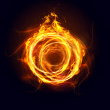 Ring of fire. In the dark Royalty Free Stock Photos