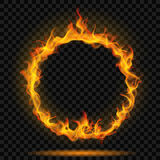 Ring of fire flame. On transparent background. For used on dark backgrounds. Transparency only in vector format Stock Photography