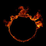 Ring of fire. Ring of   fire isolated on black background Stock Images