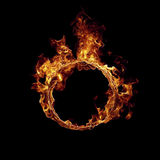 Ring of fire. Isolated on white background Stock Photo