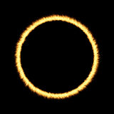 Ring of Fire. Over a dark background Stock Photo