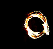 Ring of fire. View of a ring of fire royalty free stock image