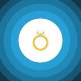 Ring Flat Icon L'elemento di vettore di impegno può essere usato per l'anello, le nozze, concetto di progetto di impegno Fotografia Stock