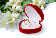 Ring & flowers Stock Photography