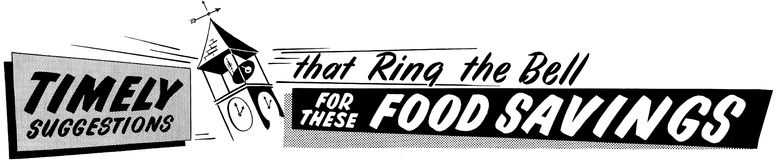 Ring For These Food Savings Imagenes de archivo