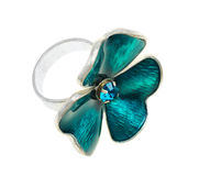 Ring in the form of trefoil. Jewellery, ring in the form of trefoil Royalty Free Stock Images