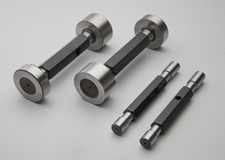 Ring gauges or tools or dies or fixtures. Used in tool room Royalty Free Stock Photography
