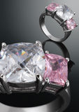 Ring with gem. Jewelry concept Royalty Free Stock Image