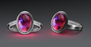 Ring with gem Royalty Free Stock Images