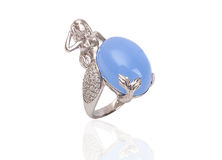 Ring with gems and enamel Stock Image