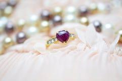 Ring with gemstone Stock Image