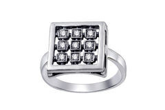 Ring  with gemstones  isolated Stock Images