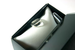 Ring in gift box Royalty Free Stock Images