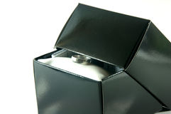 Ring in gift box Stock Images