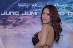 Ring Girl in One Championship. BANGKOK - MARCH 11 : Ring Girl in One Championship `One : Warrior Kingdom` on March 11, 2017 at Impact Arena, Muang Thong Thani Royalty Free Stock Image