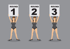 Ring Girl Vector Character Illustration Royalty Free Stock Photos