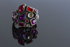 Ring with glass stones Royalty Free Stock Image