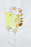 Ring in a glass of wine Royalty Free Stock Images