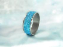 Ring with glitters Stock Image