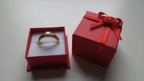 Ring Gold Diamond Nice Beautiful. Goldring with Diamond royalty free stock image