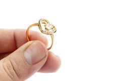 Ring in hand Royalty Free Stock Images