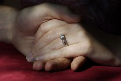 Ring and Hands Stock Photos