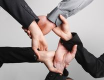 Ring of hands close up isolated Royalty Free Stock Photography