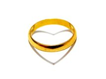 ring and heart Stock Images