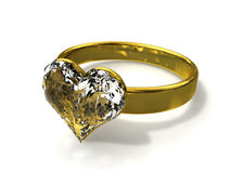 Ring with heart Stock Images