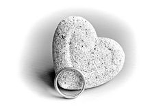Ring and heart Stock Photos