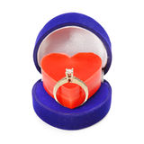 Ring and heart Royalty Free Stock Photo