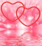 Ring Hearts Displays Love Engagement y boda Imagen de archivo libre de regalías