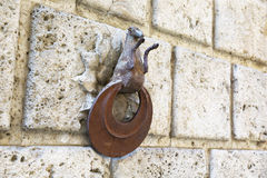Ring for horses in wrought iron, Siena Stock Photo
