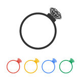 Ring icon. Design style eps 10 vector illustration