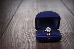 Free Ring In The Box On The Table Stock Images - 31860874