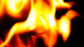 Ring inside burning fire. Ring inside a burning fire stock video footage