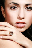 Ring with a jewel Stock Photography